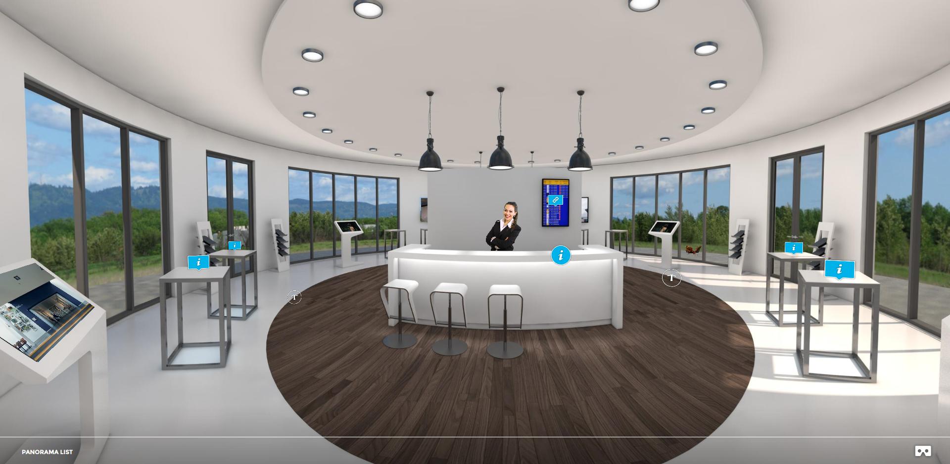 Virtuelle Messe Auftritt  Showroom atelier damböck